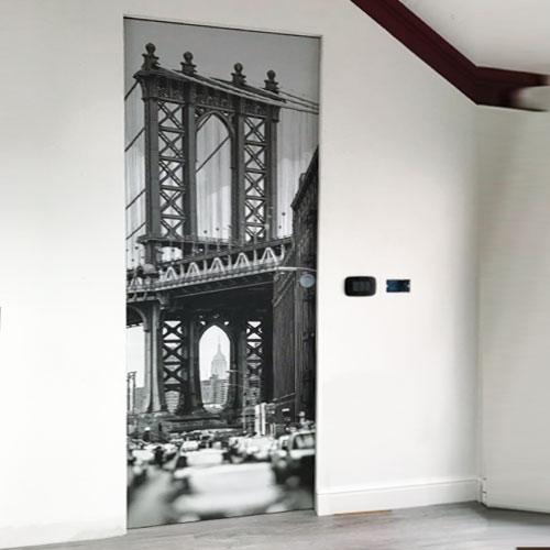 stampa fotografica applicata su porta