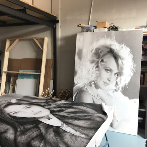 tela pittorica stampata e montata su telaio in legno