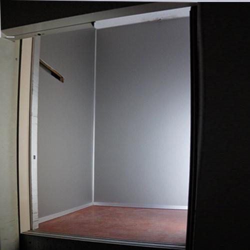 cabina ascensore dopo l'intervento di riqualificazione