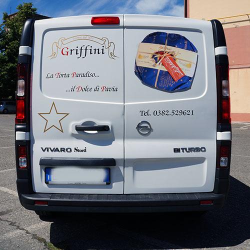decorazione furgone Griffini