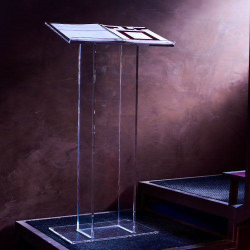 podio in plexiglass